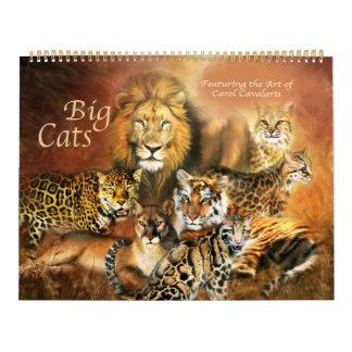 大きな猫の芸術のカレンダー カレンダー