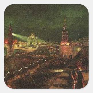 大事な行事にモスクワの照明 スクエアシール