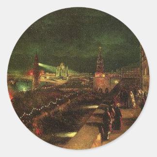 大事な行事にモスクワの照明 ラウンドシール