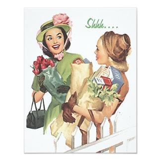 大事な行事の招待状のためのレトロのびっくりパーティ カード
