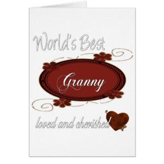 大事にされたおばあさん カード