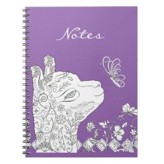 大人の着色のタイプアルパカの蝶DIYノート ノートブック