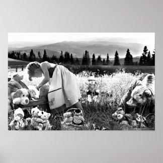 大人の着色ポスター: 少し荒野の女の子 ポスター