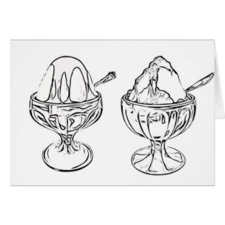 大人の着色: アイスクリームのサンデーの友情カード カード