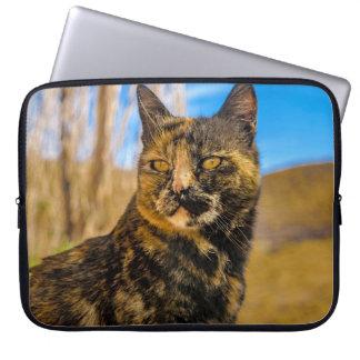 大人の野生猫のモデルおよび監視 ラップトップスリーブ