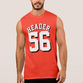大人|のスポーツのジャージーの赤く及び白いデザイン 袖なしシャツ