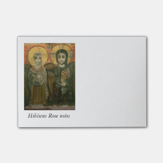 大修道院長のコプトアイコンを持つイエス・キリスト ポストイット