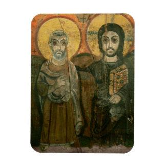 大修道院長のコプトアイコンを持つイエス・キリスト マグネット