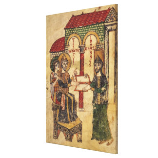 大修道院長のジョンの提供の原稿ベネディクト キャンバスプリント