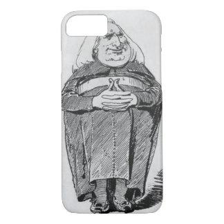 大修道院長、「Bからの風刺漫画としてフランツ・リスト(1811-86年) iPhone 8/7ケース
