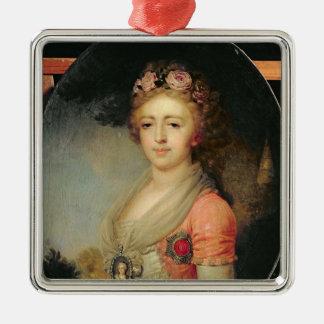 大公妃のアレキサンドラ、c.1798ポートレート メタルオーナメント