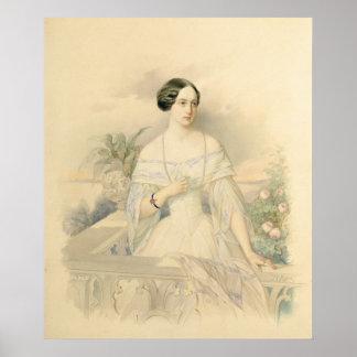 大公妃のオリガNikolaevna 1846年ポートレート ポスター