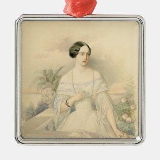 大公妃のオリガNikolaevna 1846年ポートレート メタルオーナメント