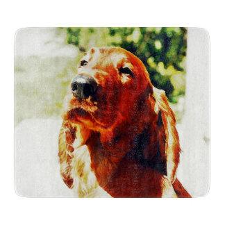 大切なアイリッシュセッターの子犬 カッティングボード