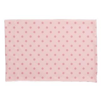 大切なピンクの水玉模様 枕カバー