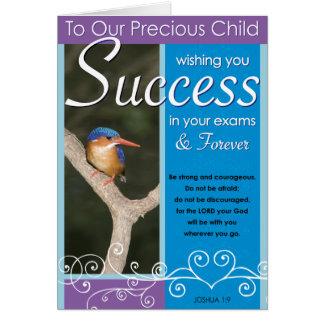 大切な子供の成功 カード