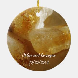 大切な宝石用原石の写真の結婚式のオーナメント セラミックオーナメント