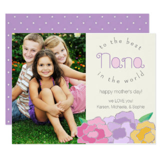 大切な花模様の幸せな母の日のナナカード カード