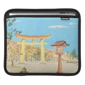 大和の神聖な場所の景色のFukuharaの神社 iPadスリーブ