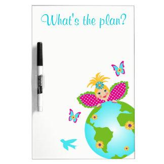 大地の妖精の世界の地球旅行白板 ホワイトボード
