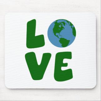 大地の惑星を愛して下さい マウスパッド