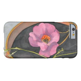 大地のiPhone 6/6sのやっとそこに場合のピンクの花 Barely There iPhone 6 ケース