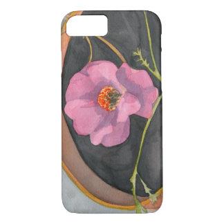 大地のiPhone 7のやっとそこに場合のピンクの花 iPhone 8/7ケース