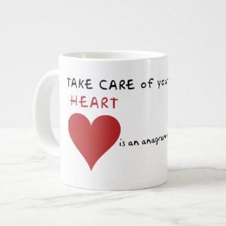 大地を大事にして下さい ジャンボコーヒーマグカップ