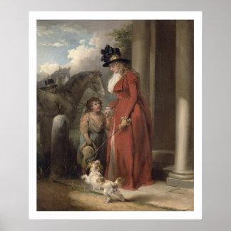 大地主のドア、c.1790 (キャンバスの油) ポスター