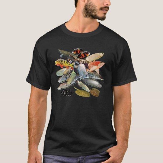 大型の淡水性熱帯魚 Tシャツ