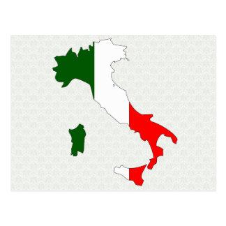 大型イタリアの旗の地図 ポストカード