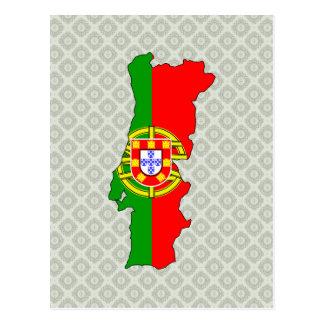 大型ポルトガルの旗の地図 ポストカード