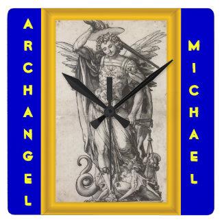 大天使のミハエル時計 スクエア壁時計