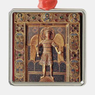 大天使ミハエルを描写するエナメルを塗られたプラク メタルオーナメント
