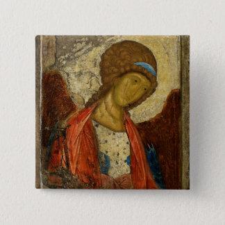 大天使ミハエルc1414 5.1cm 正方形バッジ