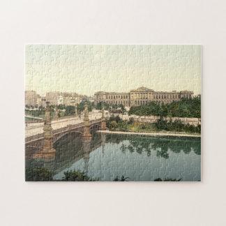 大学および橋、ストラスブール、アルザス、フランス ジグソーパズル