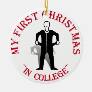 大学の私の初めてのクリスマス セラミックオーナメント