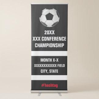 大学サッカーの会議のトーナメントの表記 伸縮バナー
