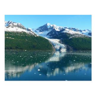 大学フィヨルドI景色のアラスカのクルージング ポストカード
