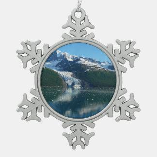 大学フィヨルドII美しいアラスカの写真撮影 スノーフレークピューターオーナメント