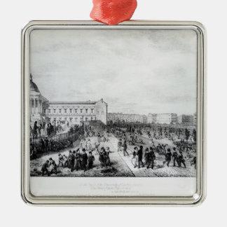 大学付属の学校、ロンドン1835年 メタルオーナメント