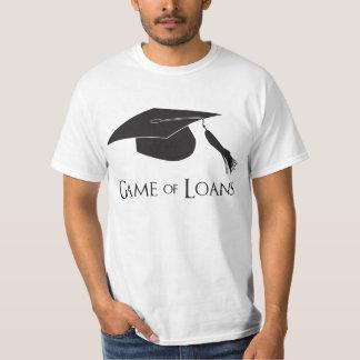 大学卒業の貸付け金のゲーム Tシャツ