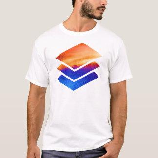 大学院の卒業の積み重ね Tシャツ