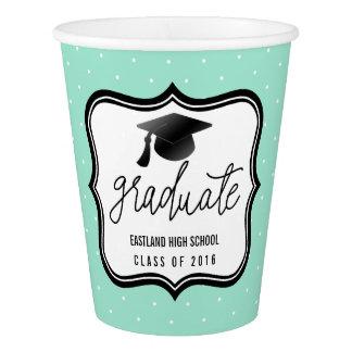 大学院の原稿のBlack Hat会議|の真新しく青い水玉模様 紙コップ