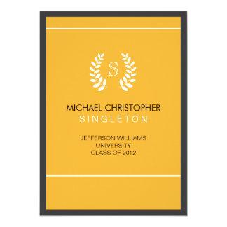 大学黒及び金ゴールドの卒業の発表 カード