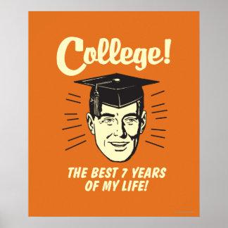 大学: ベスト7年間の私の生命 ポスター