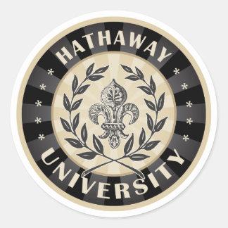 大学Hathawayの黒 ラウンドシール
