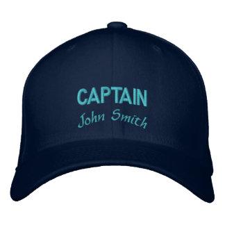 大尉の一流の名前入り 刺繍入りキャップ