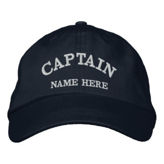 大尉の一流の船員の帽子 刺繍入りキャップ