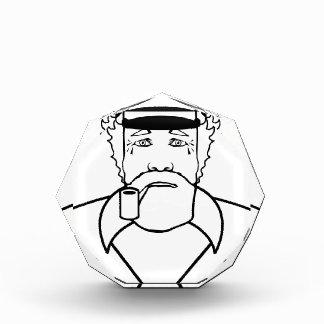 大尉の輪郭のベクトル 表彰盾